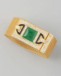 Rachel Zoe | Green Chainmaille Bracelet | Lyst