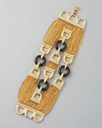 Rachel Zoe - Metallic Three-Row Chain Bracelet - Lyst