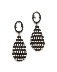 DANNIJO | Black Diaz Earrings | Lyst
