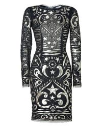 Emilio Pucci | Black Zip-front Jersey Dress | Lyst