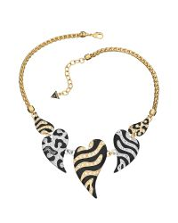 Guess | Metallic Wild At Heart Mixed Skins Necklace | Lyst