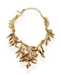 Oscar de la Renta | Metallic Leaf Motif Collar Necklace | Lyst