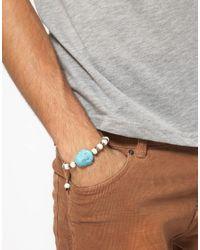 ASOS | Blue Buddha Head Beaded Bracelet for Men | Lyst