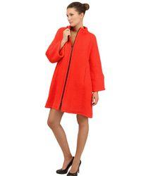Gianluca Capannolo - Orange Wool Alpaca Boucle Cloth Coat - Lyst