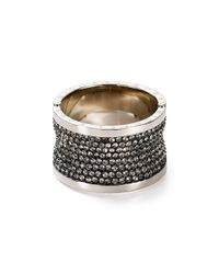 Michael Kors | Metallic Pave Barrel Ring | Lyst
