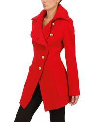 Vivienne Westwood Anglomania - Red Wool Flannel Coat - Lyst