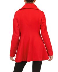 Vivienne Westwood Anglomania | Red Wool Flannel Coat | Lyst