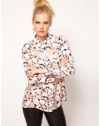 MINKPINK - Multicolor When Doves Cry Printed Cut Out Shirt - Lyst