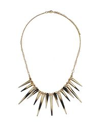 TOPSHOP - Black Dip Dye Spike Necklace - Lyst
