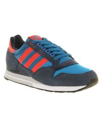 Adidas - Blue Zx 500 Dark Royal Light Scarlet Dark Indigo for Men - Lyst