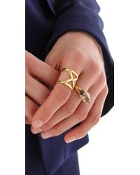 Campbell - Metallic Hold Me Tight I Ring - Lyst