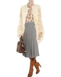 Chloé | Gray Pleated Wool-flannel Skirt | Lyst