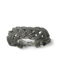 Club Monaco | Metallic Brittany Braided Bracelet | Lyst