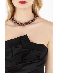 Coast - Black Coralie Necklace - Lyst