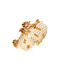 Delfina Delettrez - Metallic Gold To Bee Or Not Too Bee Cuff - Lyst