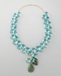 Devon Leigh | Blue Quartz Necklace | Lyst