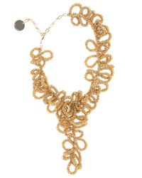 Elie Saab | Metallic Gold Short Loop Necklace | Lyst