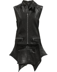 Haider Ackermann | Black Quilted tail Leather Vest | Lyst