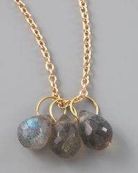 Heather Moore | Metallic Labradorite Teardrop Charm | Lyst