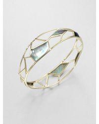 Ippolita   Gray 18k Gold Deco Bangle Bracelet   Lyst