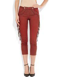 Isabel Marant - Red Rodwell Tasseled Mid Rise Skinny Jeans - Lyst