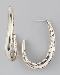 John Hardy | Metallic Kali Hoop Earrings Medium | Lyst
