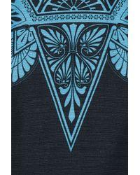 Jonathan Saunders - Blue Roux Printed Cotton Blend Dress - Lyst