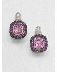 Judith Ripka - Pink Semiprecious Multistone Earrings - Lyst