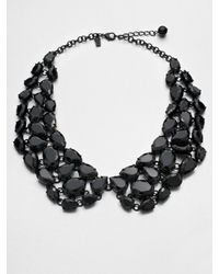 kate spade new york | Black Faceted Collar Necklace | Lyst