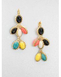Kate Spade   Multicolor Cabochon Drop Earrings   Lyst
