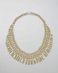 Kendra Scott | Metallic Sandy Bib Necklace | Lyst