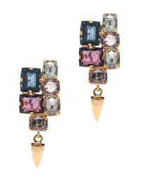 Lizzie Fortunato | Purple Stacked Gem W Bullet Earrings | Lyst