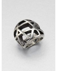 Low Luv by Erin Wasson   Metallic Domed Cage Ring   Lyst