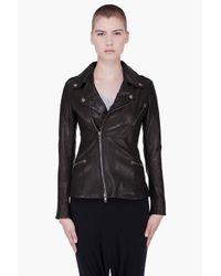 McQ Alexander McQueen | Black Hip Leather Biker Jacket | Lyst