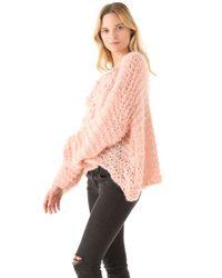 Mes Demoiselles - Pink Russel Pom Pom Sweater - Lyst