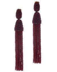 Oscar de la Renta | Purple Long Tassel Earrings | Lyst