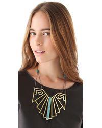 Pamela Love - Metallic Wrought Iron Breastplate in Turquoise - Lyst