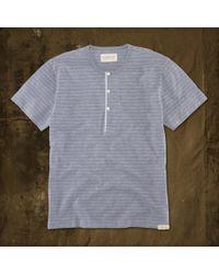 Ralph Lauren | Gray Yarndyed Striped Henley for Men | Lyst