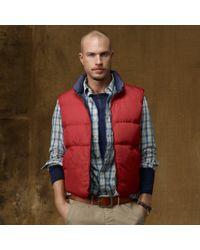 Ralph Lauren - Red Bright Northwest Down Vest for Men - Lyst