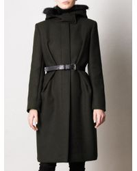 Sportmax | Green Canard Wool Coat | Lyst