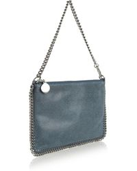 Stella McCartney - Blue Velvet Python Fold Over Bag - Lyst