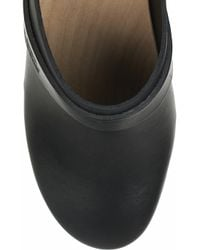 Swedish Hasbeens - Black Super High Leather Clogs - Lyst