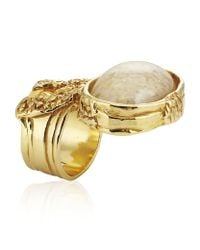 Saint Laurent | Natural Arty Oval Ring | Lyst