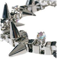 ASOS   Metallic Jewelled Spike Bracelet   Lyst