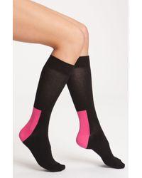 Happy Socks | Black Colorblock Socks | Lyst