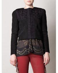 Isabel Marant | Black Edge Embroidered Jacket | Lyst