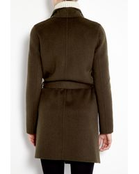 Joseph | Brown Lisa Long Double Face Cashmere Belted Coat | Lyst