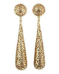 Kendra Scott | Brown Caroline Filigree Earrings | Lyst