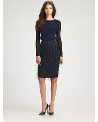 Sachin & Babi | Black Pleated Georgette Tea Length Skirt | Lyst