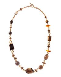 Stephen Dweck - Brown Tigers Eyeamberagate Necklace - Lyst